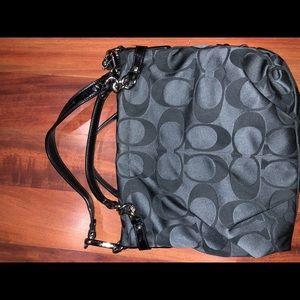 Black Coach Signature Shoulder Bag